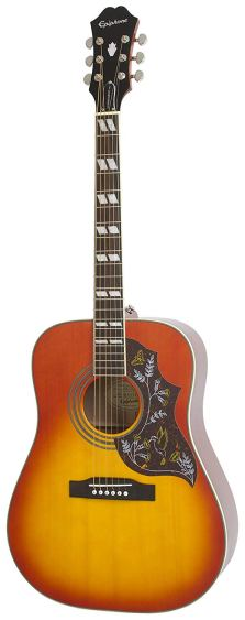 Epiphone HUMMINGBIRD PRO Solid Top Acoustic:Electric Guitar