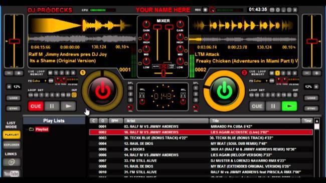 dj prodecks - best free dj software