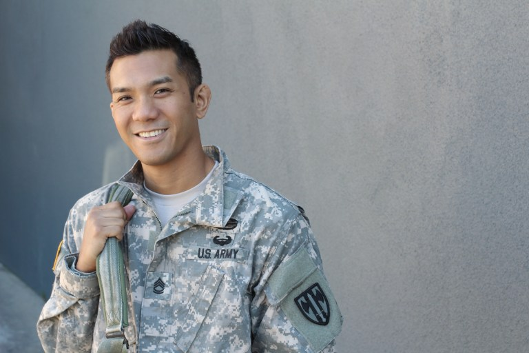 Young US Army soldier