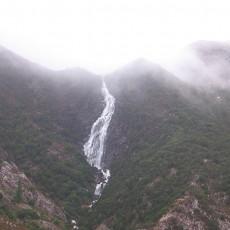 Tasmanian landscape on a gray day