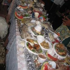 Sampling of Tongan Festival food