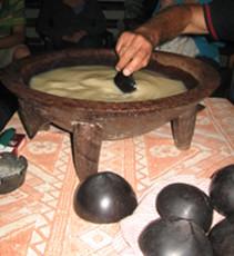 Kava night at Toni's Guesthouse, Tonga