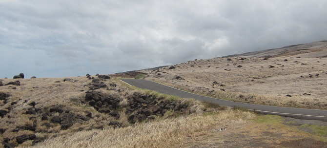 Jaw-dropping desert topography along the backside of the Road to Hana.