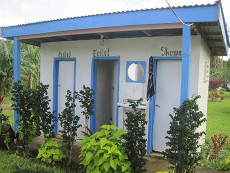 """Cute """"outhouses"""" at Tania's Guesthouse"""