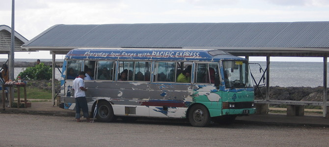 Local buses in Tongatapu.