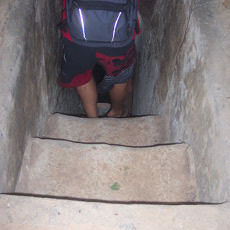 Going down....and down into the Cu Chi Tunnels