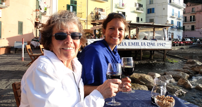 Indulging in sun and wine in Sorrento.