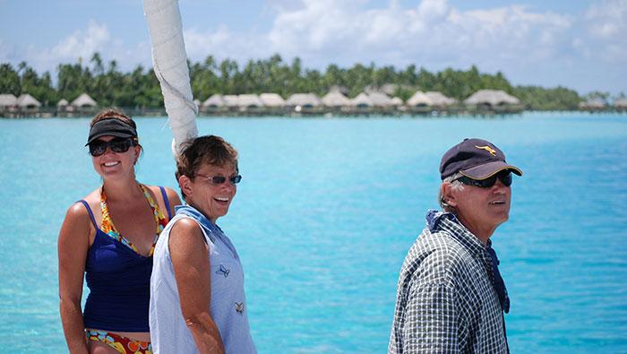 Sailing to Bora Bora, Tahiti