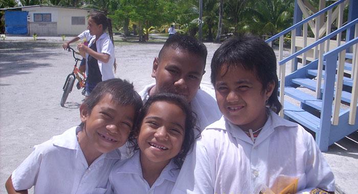 schoolchildren on Palmerston