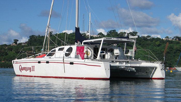 Sailing to Pape'ete, Tahiti