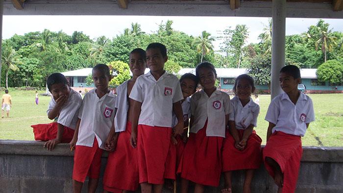 school kids in samoa