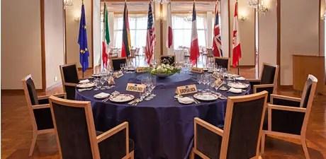 G7で使用された「志摩観光ホテル」のバンケットルーム。