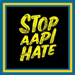 Declaration, In text, it reads stop AAPI hate