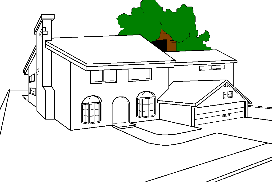 The simpsons house drawing process global film locations