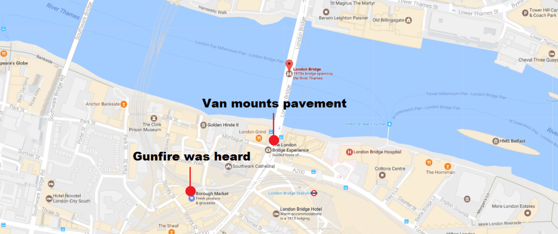 Map London Bridge.London Bridge Incident Map Breaking News Global Film Locations