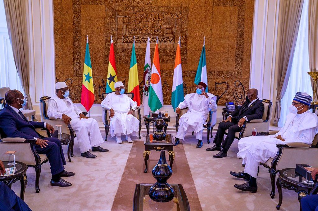 Ecowas leaders on Mali