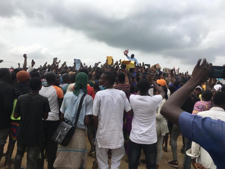 #endsars protest on Lagos-Ibadan Expressway