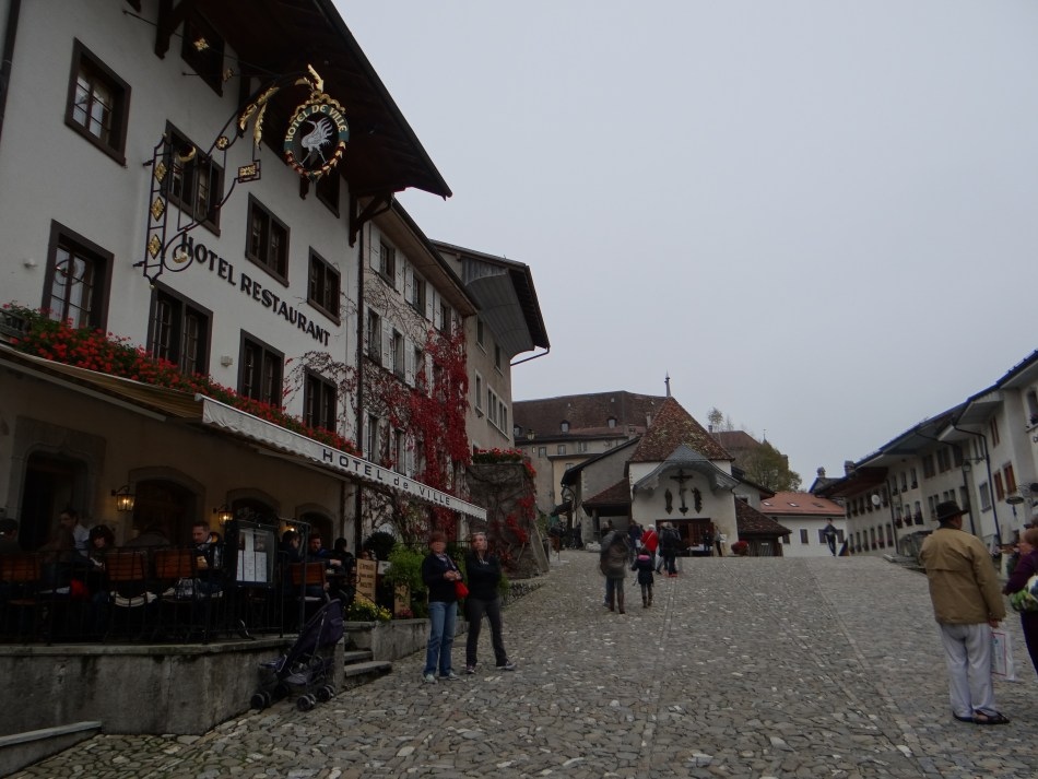 Gruyères! Main street in the swiss town Gruyeres (Switzerland)