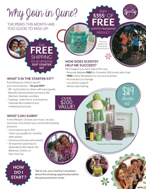 Join Scentsy in June