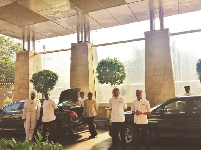 Taj arrival