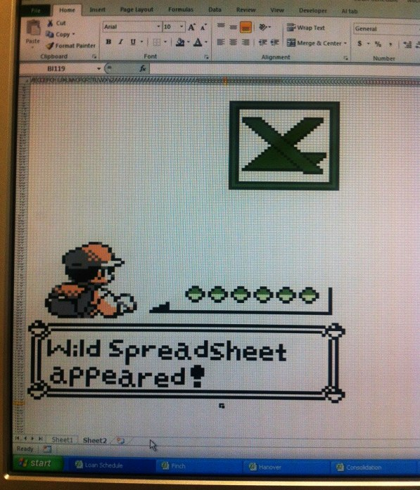 Pokemon Excel Spreadsheet Art [pic]