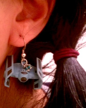 Star Wars Millennium Falcon and Tie Bomber Earrings [pics]