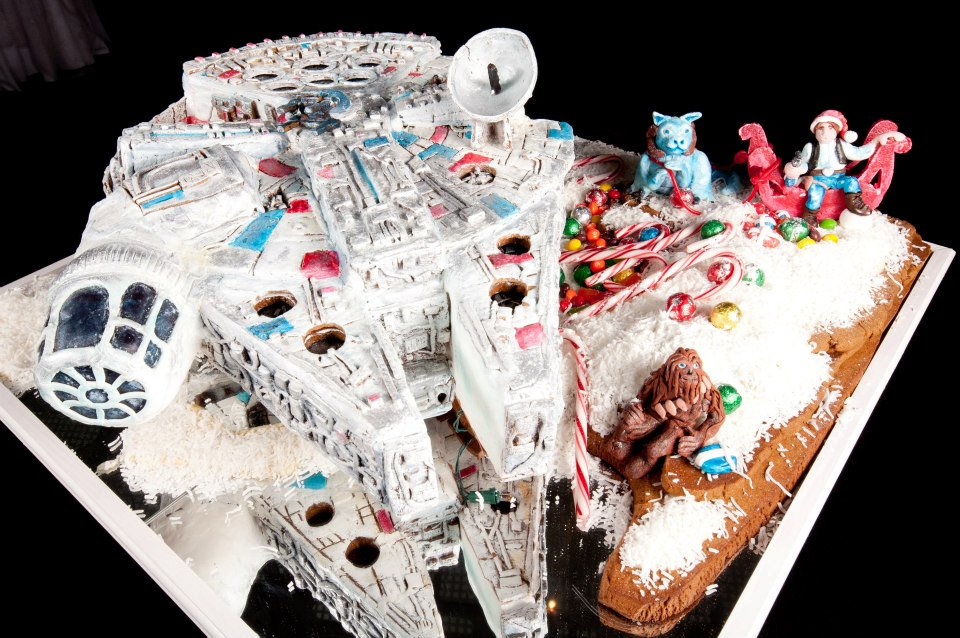 Amazing Millennium Falcon Gingerbread Ship [pic]
