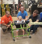 Home Depot Employees Create Innovative Walker for Boy with Norrie Disease