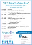 FindaCure Workshop Agenda: A-Z To Setting Up a Patient Group' Workshop