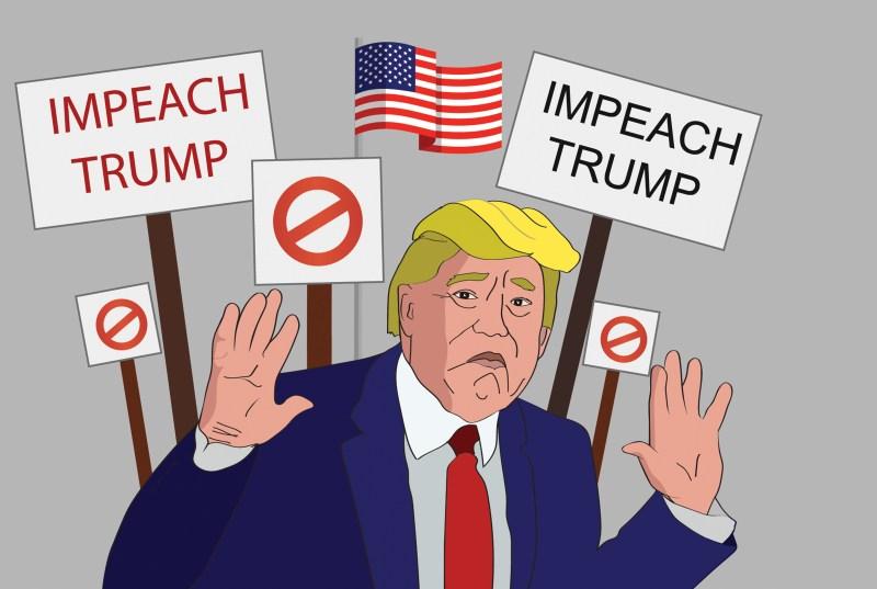 Image result for caricature trump impeachment