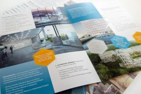 Folder ofertowy sprzedaży apartamentów w inwestycji aparthotelowej w Wiśle
