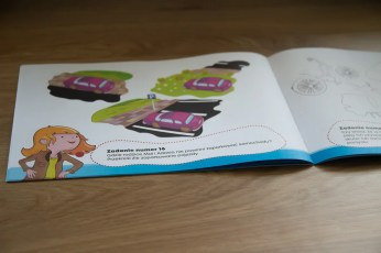 strony wewnętrzne książeczek dla dzieci Odprowadzam Sam