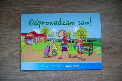 okładka książeczki dla dzieci Odprowadzam Sam