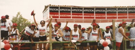 Revelers on the Appleton truck for Jamaica Carnival. Kingston, Jamaica