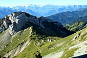 Looking at mountains from Mt Pilatus