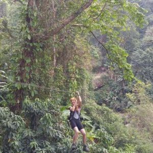 Ziplining, Pakse, Laos