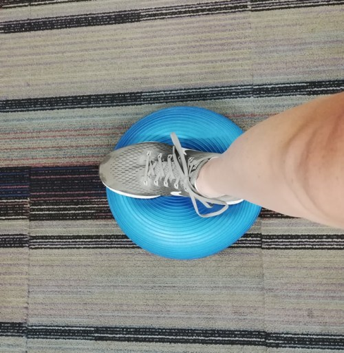 Sprained Ankle Rehab with a Wobble Board