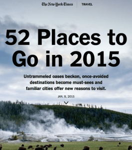 NY Times 52 Places to Go in 2015