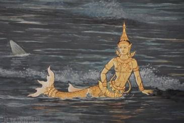 Wat Phra Kaew Mural Mermaid