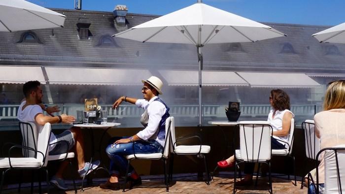 Rooftop dining in Zurich