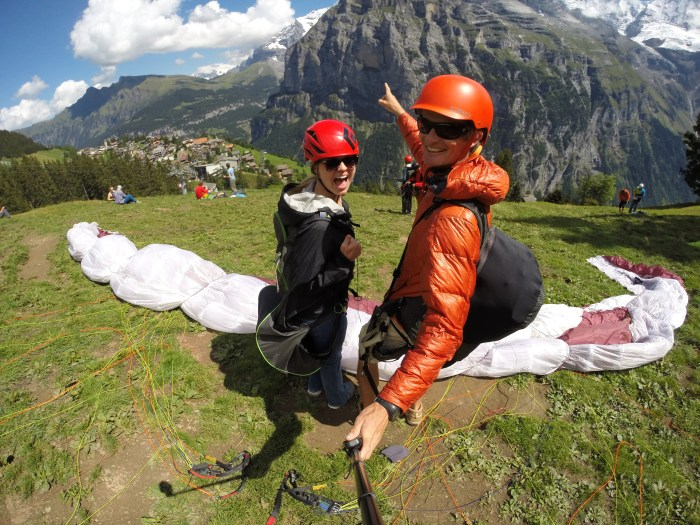 Paragliding Pre-take off