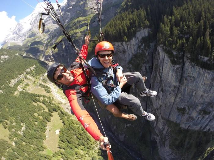 Paragliding over Lauterbrunnen Valley