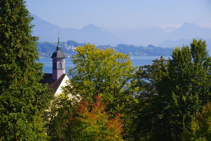 Lucerne in the fall