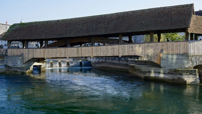 Wooden Bridge Luzern Switzerland