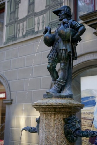 Fountain in Old Town Lucerne