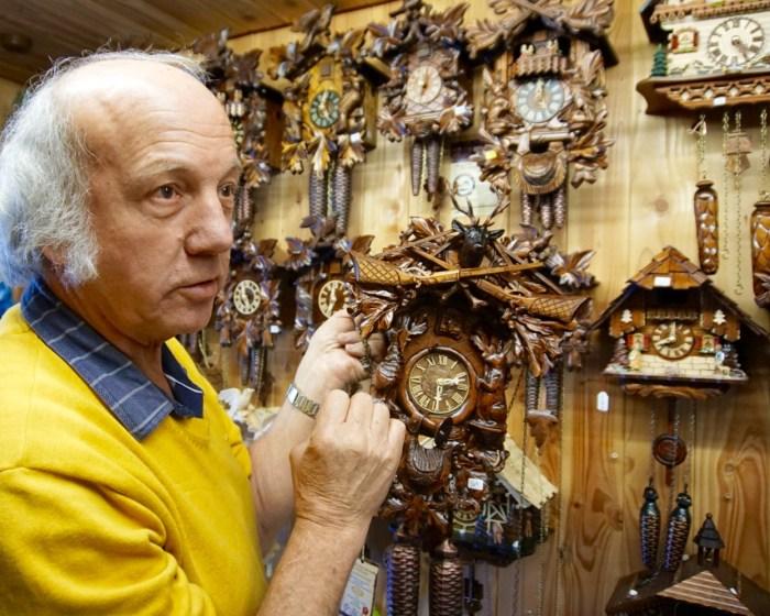 Cuckoo clock maker in Triberg, Germany