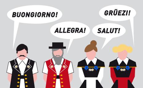 Swiss Languages People