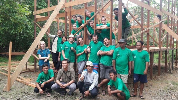 Volunteers at the Orangutan Foundation