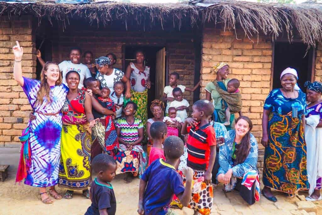 Village life in Malawi, Africa