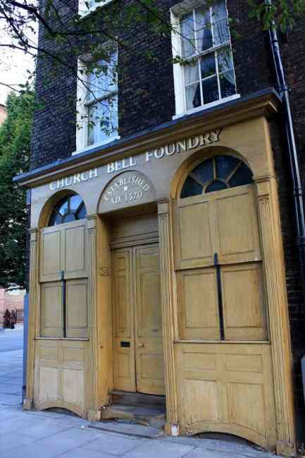 The Whitechapel Bell Foundry, Aldgate East